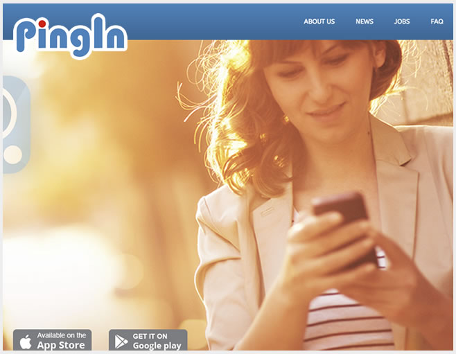 Pingin home page