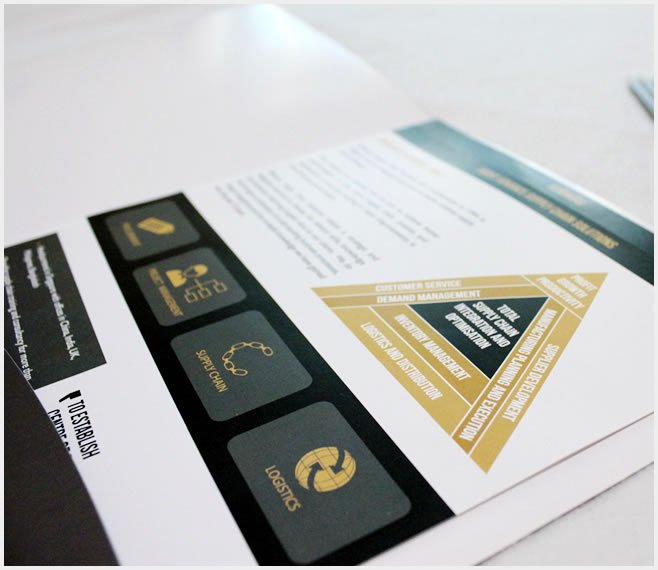 Designing marketing material brochures, folders and flyers for an training institute in Singapore