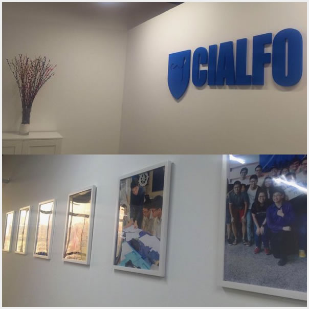 Logo in CIALFO office