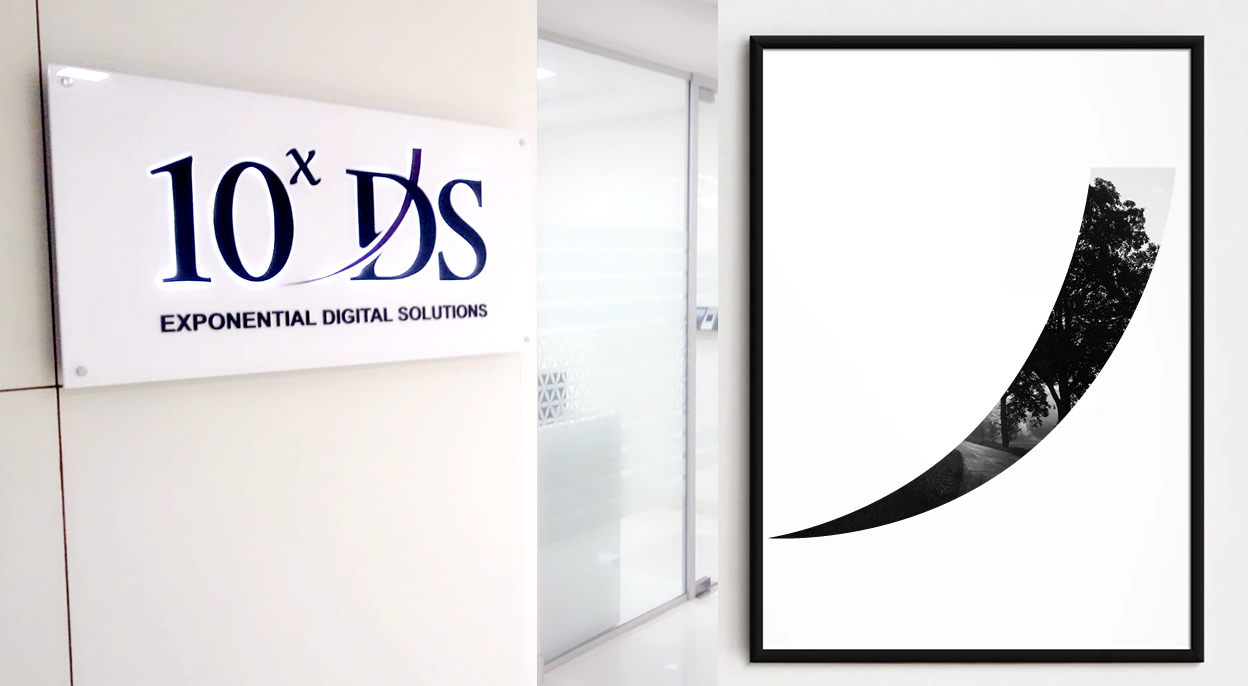 Presentation of logo in the corporate office