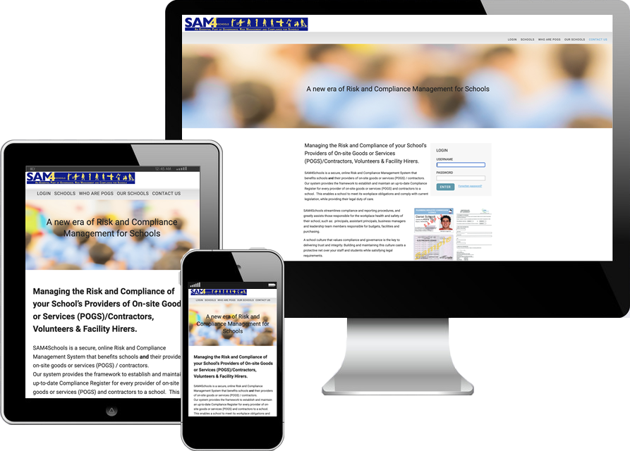 web application interface design/development for a school based in Camberwell vic, Australia