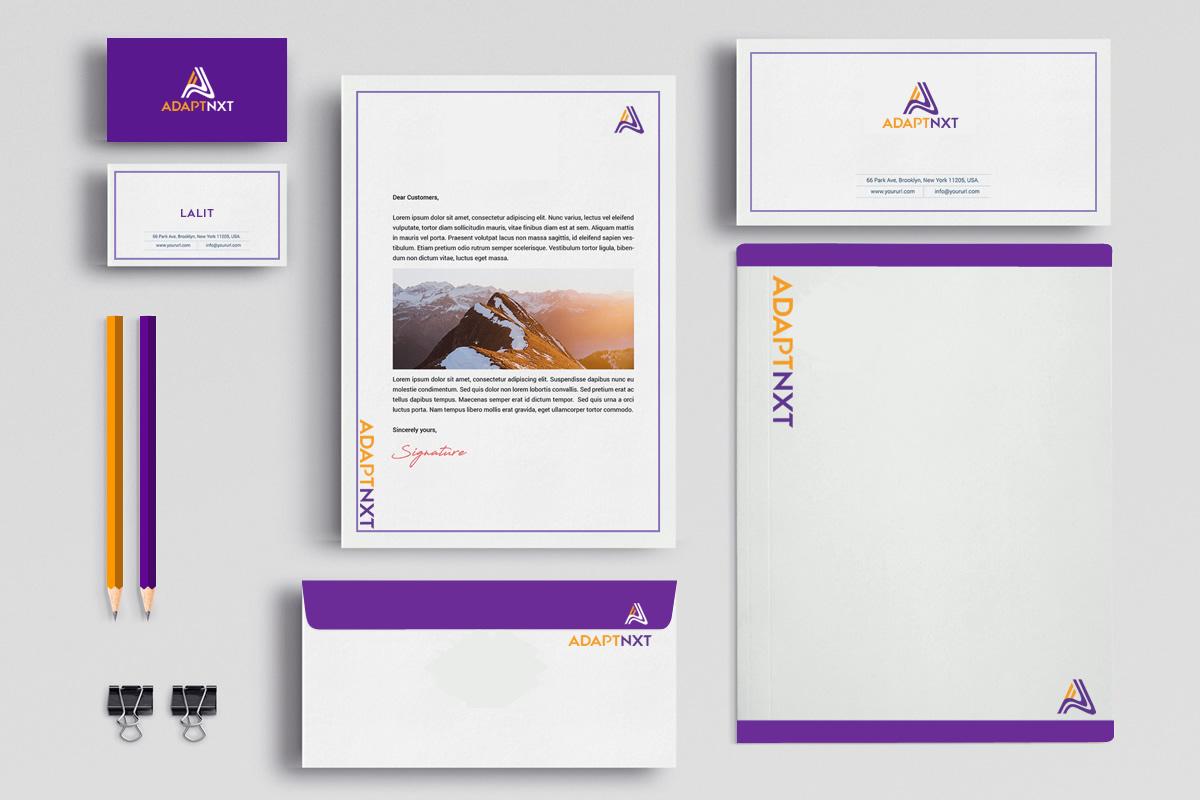 Futuristic brand identity design for a start-up