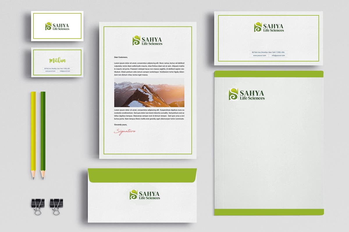 Stationery design for a start-up